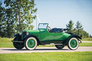 Bilder Dodge Antik Grün Metallisch Cabriolet Roadster 1925 Roadster Autos