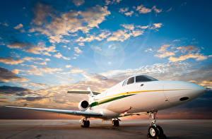 Fotos Flugzeuge Verkehrsflugzeug Himmel Wolke Luftfahrt