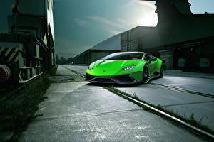 Hintergrundbilder Lamborghini Grün Huracan Spyder Novitec Torado Autos