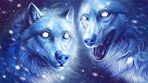 Images Wolves Painting Art 2 animal