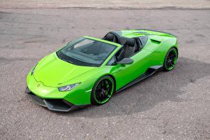 Fotos Lamborghini Grün Huracan Spyder Novitec Torado