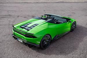 Bilder Lamborghini Grün Huracan Spyder Novitec Torado