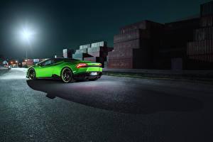Hintergrundbilder Lamborghini Grün Huracan Spyder Novitec Torado