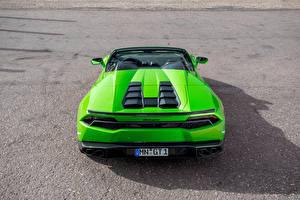 Fotos Lamborghini Grün Hinten Huracan Spyder Novitec Torado Autos
