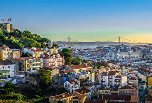 Tapety na pulpit Portugalia Budynek Lizbona