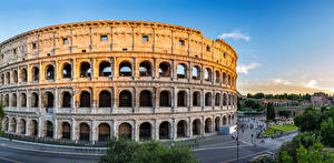 Pictures Rome Italy Colosseum Arch Cities
