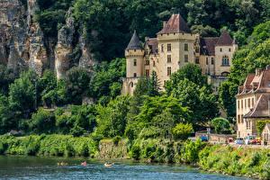 Images France Castles Coast Crag Chateau De La Mallantrie Cities