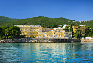 Pictures Croatia Building Coast Opatija Cities