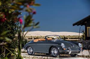 Bilder Porsche Retro Graue Metallisch Cabriolet Roadster 1959-61 356B 1600 Super 90 Roadster by D'ieteren Freres Autos