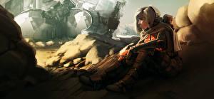 Hintergrundbilder Technik Fantasy Blondine Sitzend Fantasy Mädchens