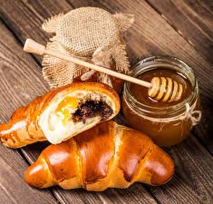 Image Baking Croissant Honey Jar Food
