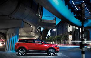 Papel de Parede Desktop Land Rover Vermelho Metálico Lateralmente 2011 Range Rover Evoque Prestige Carros