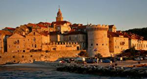 Wallpapers Croatia Building Coast Korcula Cities