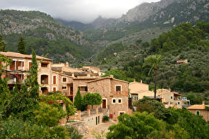 Fotos Spanien Haus Gebirge Wälder Mallorca Fornalutx