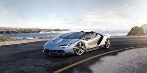 Bilder Lamborghini Silber Farbe Roadster Roadster