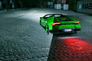 Fotos Lamborghini Grün Hinten Spyder Novitec Autos