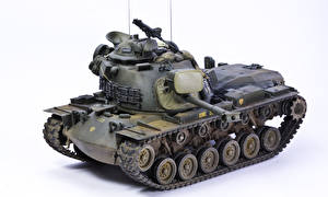 Pictures Tanks Toy White background  military