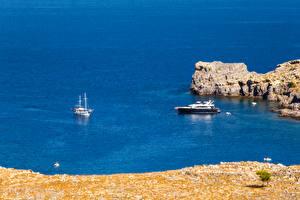 Bilder Griechenland Küste Jacht Meer Rhodes Island Natur