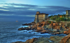 Pictures Italy Coast Castle HDRI Boccale Castle Livorno Cities