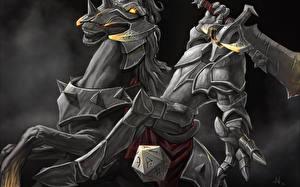 Hintergrundbilder DOTA 2 Chaos Knight Krieger Rüstung Helm Schwert computerspiel Fantasy