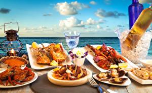 Hintergrundbilder Meeresfrüchte Hummerartige Dubbeglas das Essen