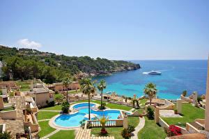 Bilder Spanien Resort Haus Meer Mallorca Schwimmbecken