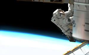 Bureaubladachtergronden Astronaut Geschilderde