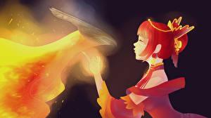 Wallpaper DOTA 2 Lina Magic Phoenix Phoenix mythology vdeo game Fantasy