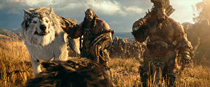 Photo Warcraft 2016 Warriors Orc Wolf Fantasy