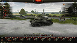 Fotos World of Tanks Panzer T-34 T-34-85 Rudy in the hangar Spiele