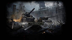 Bilder Selbstfahrlafette Panzer World of Tanks T-34 ISY-152, T-34-85 Spiele