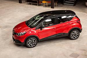 Tapety na pulpit Renault Czerwony Metaliczna 2016 Captur Hypnotic Samochody