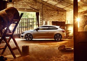 Hintergrundbilder Seat Weiß Leon 2015 automobil