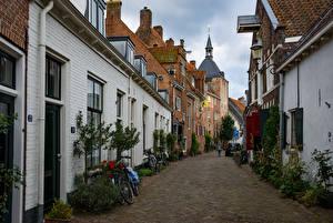 Images Netherlands Houses Street Bicycles Muurhuizen Amersfoort Cities