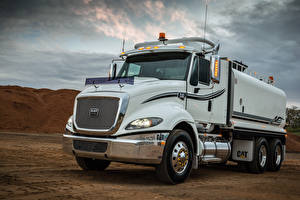 Pictures Trucks White 2010-16 Caterpillar CT610 Anysteel water truck Cars