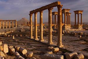 Hintergrundbilder Ruinen Tadmur Syria Städte