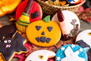 Pictures Halloween Pastry Cookies Design Food