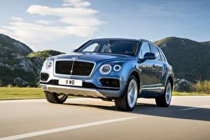 Image Bentley Light Blue Motion Metallic 2016 Bentayga Diesel Worldwide automobile