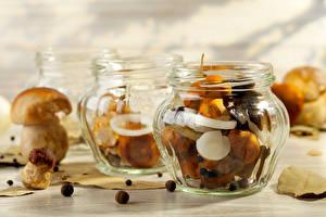 Picture Mushrooms Jar Food