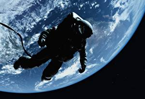 Bureaubladachtergronden Astronaut Planeet oppervlak Ruimte
