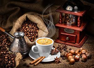 Bilder Kaffee Nussfrüchte Zimt Kaffeemühle Tasse Getreide Das Essen Lebensmittel