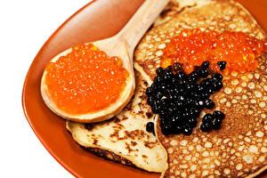 Hintergrundbilder Eierkuchen Kaviar Löffel das Essen