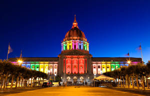 Fotos Haus USA Nacht San Francisco town council Städte
