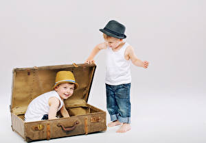 Pictures Boys Suitcase Hat 2 Jeans Sleeveless shirt child