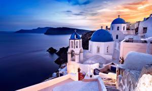 Bilder Griechenland Küste Meer Haus Santorin Oia Natur Städte