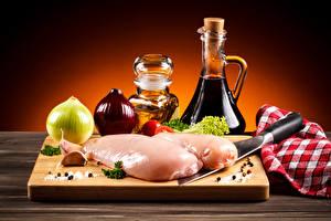 Hintergrundbilder Fleischwaren Zwiebel Gewürze Hühnerfleisch
