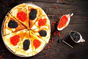 Fotos Eierkuchen Caviar das Essen