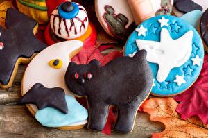 Wallpaper Halloween Cookies Cat Food