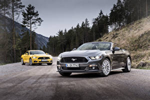 Image Ford 2 Cabriolet 2015 Convertible EU-spec Mustang automobile