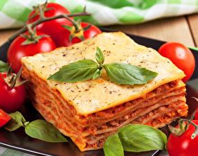 Hintergrundbilder Die zweite Gerichten Tomaten Lasagne Blatt